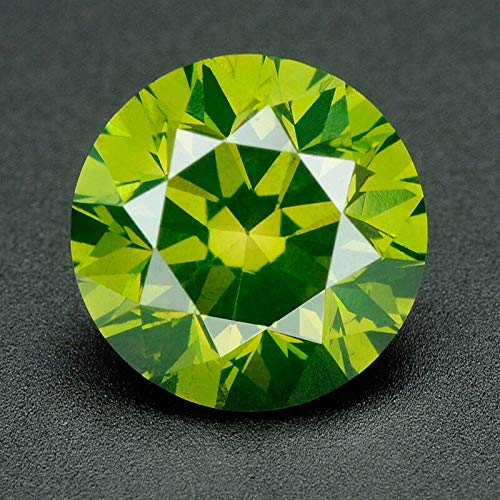 CERTIFIED 4.0 MM / 0.25 Cts. Natural Loose Diamonds, Pack of 100, Fancy Green Color Round Brilliant Cut VVS1-VVS2 Clarity 100% Real Diamonds by IndiGems ()