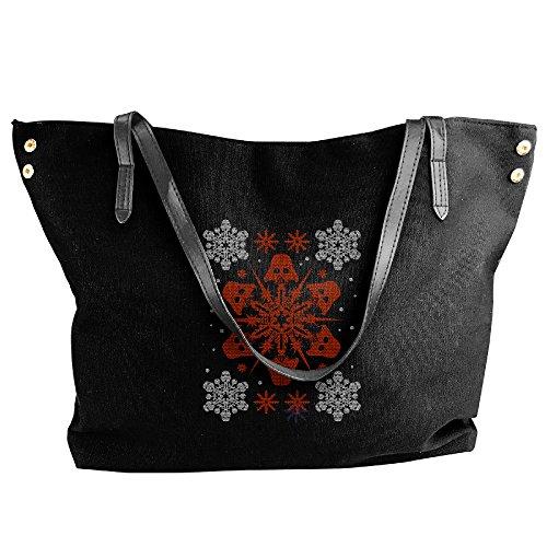 Star Wars Darth Vader Ugly Christmas Snowflake Handbag Shoulder Bag For Women (Darth Vader Purse)