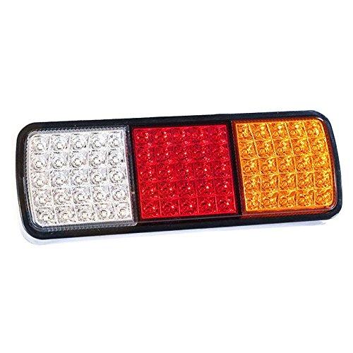 cami/ón Barco Liamostee 1 par de Luces traseras de 75 ledes indicador de Parada de 12 V para Remolque