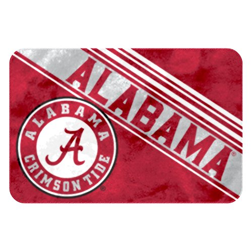 Officially Licensed NCAA Alabama Crimson Tide Raschel Rug with Non-Skid Backing, 20