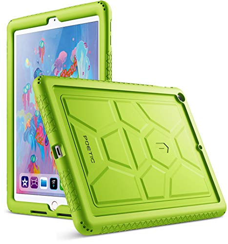 Poetic TurtleSkin New iPad 9.7 Inch 2017/2018 Cover Case with Heavy Duty Protection Silicone and Sound-Amplification Feature for Apple iPad 9.7 2017 / iPad 9.7 2018 Green ()