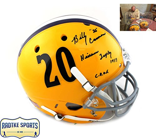 Billy Cannon Autographed/Signed LSU Tigers Schutt Throwback Full Size Helmet with