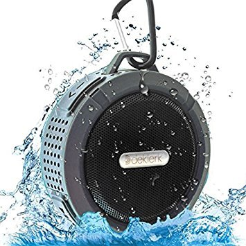 Deklerk wireless waterproof bluetooth speaker shower and outdoor with louder volume built-in mic portable speaker home mini speaker water speaker bluetooth speakers women and men