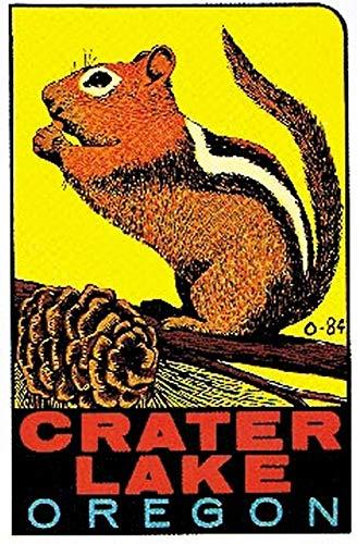 Crater Lake Oregon Vintage Travel Decal Sticker Souvenir