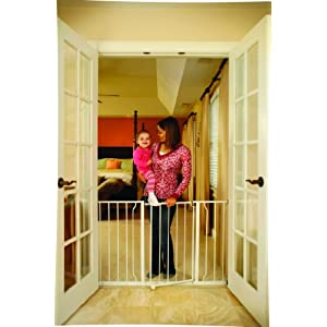 Regalo Easy Open 47-Inch Super Wide Walk Thru Baby Gate,...