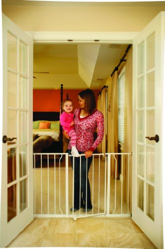 Regalo Easy Open 50 Inch Super Wide Walk Thru Gate White