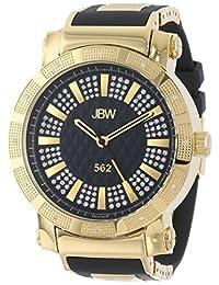 """JBW Men's JB-6225-J """"562"""" Pave Dial Diamond Black Rubber Band Watch"""