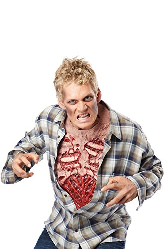 California Costumes Men's Zombie Chest, Flesh/Red, One (Zombie Costume Mens)