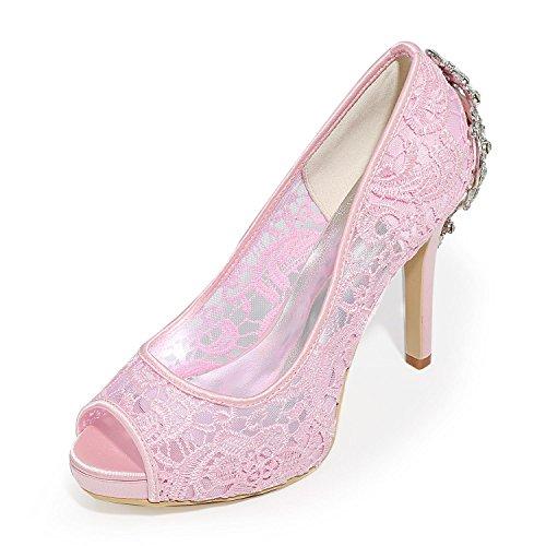 LYC-Womens-Wedding-Shoes-High-Heels-Peep-Toe-Sandals-Wedding-Dress-Multi-color