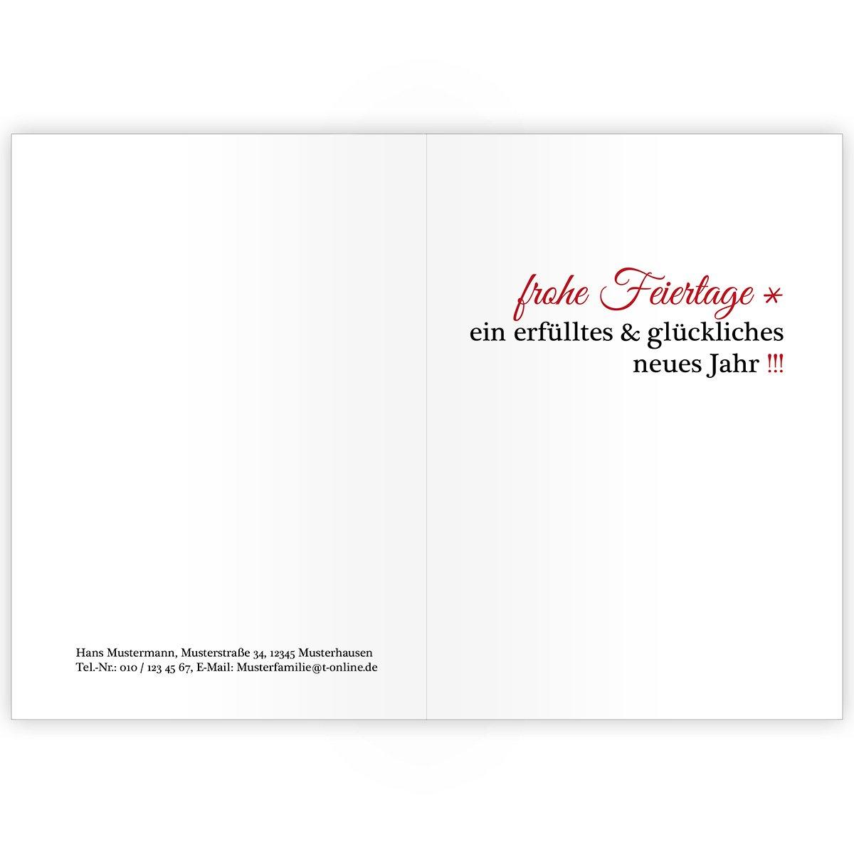 100er Weihnachtskarten Set Lustige Lustige Lustige Unternehmen Weihnachtskarten mit dickem Engel, innen blanko  weiß als geschäftliche Weihnachtsgrüße   Glückwunsch zu Neujahr   Weihnachtskarte an Firmenkunden, Geschäftspartner, Mitarbeite a6fe8c