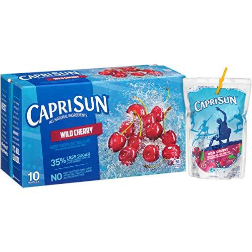 Capri Sun Wild Cherry Juice Drink (6 oz Pouches, 4 Boxes of 10)