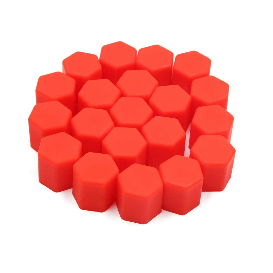 uxcell 20pcs 15mm Rubber Car Wheel Tire Nut Screw Lug Dust Cover Caps Hub Protector Red a18042000ux0121