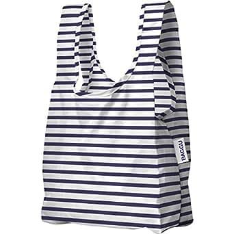 BAGGU Small Reusable Shopping Bag - Sailor Stripe