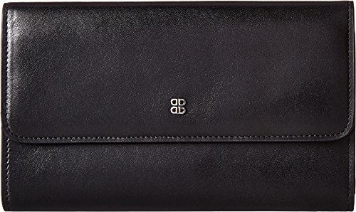 Bosca Women's Old Leather Checkbook Clutch Black One Size by Bosca