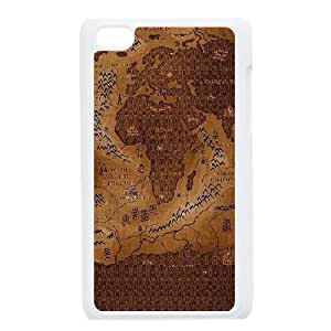 Vintage World Map For Ipod Touch 4 Phone Cases NDG624831