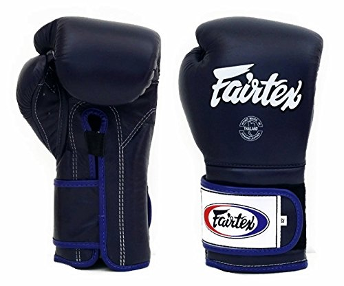 xing Gloves BGV9 - Heavy Hitter Mexican Style - Minor Change Navy Blue 12 14 16 oz. Training & Sparring Gloves for Kick Boxing MMA K1 (Navy Blue, 16 oz) ()