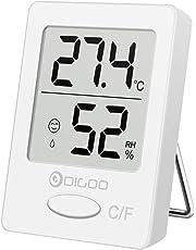 Digoo DG-TH1130: monitorización digital de humedad, de temperatura, higrómetro, termómetro interior, monitorización del ambiente, confort para la oficina y la casa.