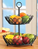 2 Tier Wire Kitchen Fruit Basket