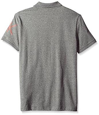 Calvin Klein Men's Short Sleeve Printed Stripe Zip Polo