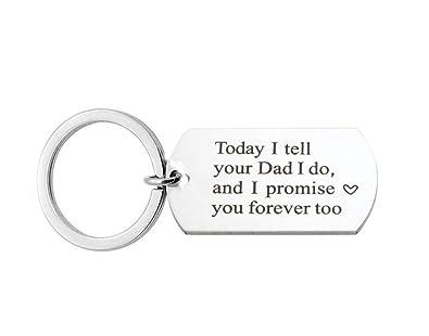 Amazon.com: Llavero con diseño de Stepdaughter para novia ...