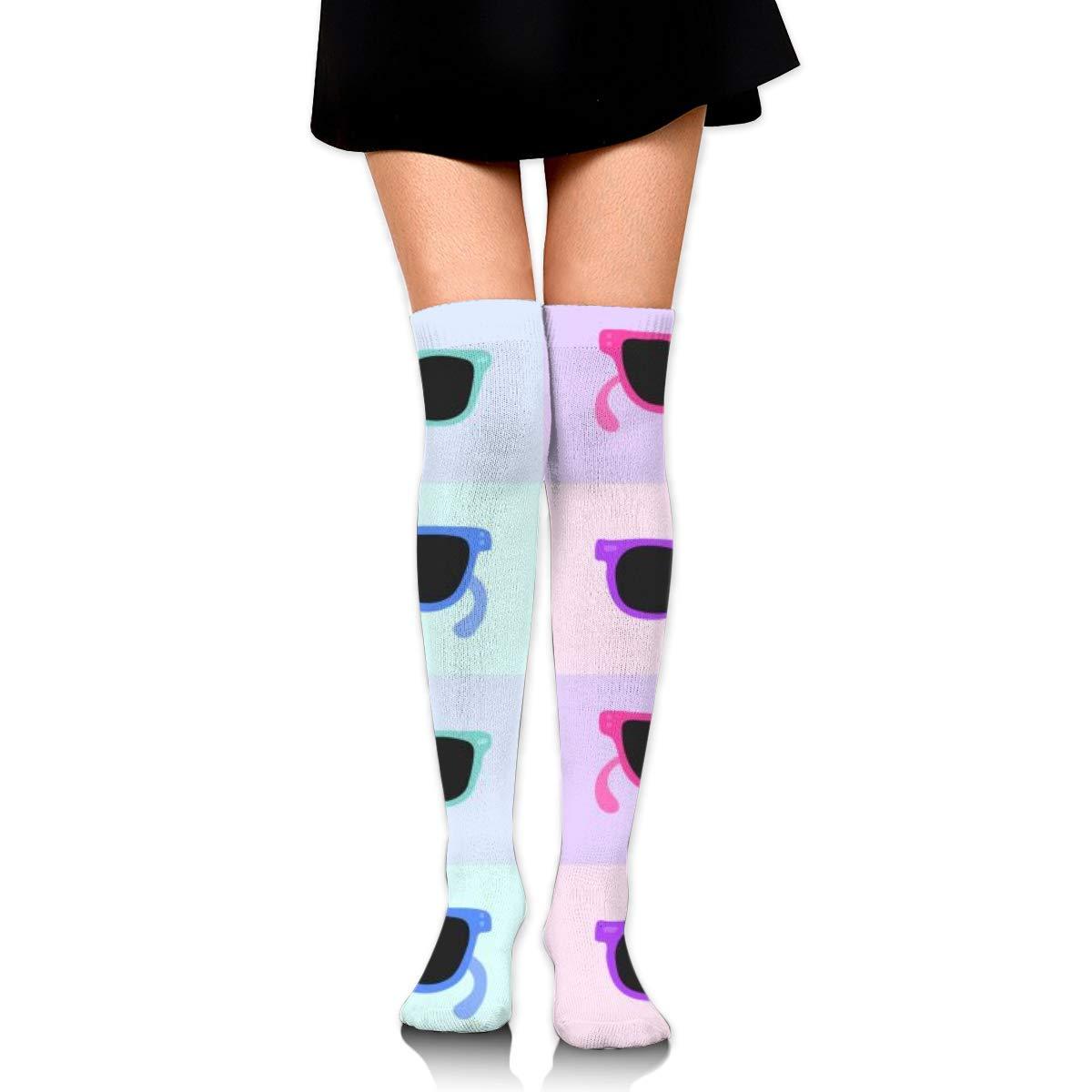 Kjaoi Girl Skirt Socks Uniform Colorful Sunglasses Women Tube Socks Compression Socks
