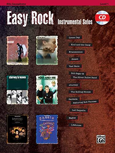 Easy Rock Instrumental Solos, Level 1: Alto Sax, Book & CD (Easy Instrumental Solos Series)