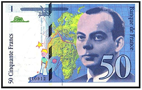 1993 FR THE LITTLE PRINCE BANKNOTE!! FRANCE'S MOST LEGENDARY & SOUGHT AFTER TREASURE! 50 Francs XF-AU (Very Lightly Circulated)