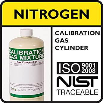 99 999% by Volume Nitrogen Calibration Gas, 17 Liter Steel Cylinder