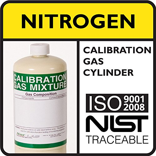 99.999% by Volume Nitrogen Calibration Gas, 17 Liter Steel Cylinder.