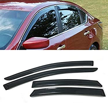 Car Window Visor Vent Deflector Sun//Rain Guards Set for Nissan Altima 2013-2018