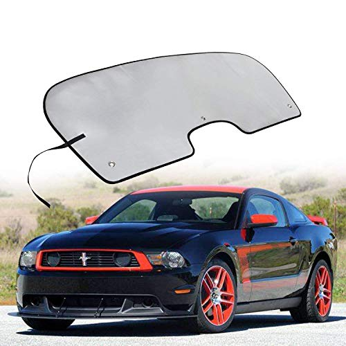 Danti Windshield Sun Shade Visor Sunshade Cover for Ford Mustang Coupe or Convertible 2015 2016 2017 -