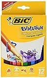 BIC Colores Evolution Triangular, Gigante, 12 unidades