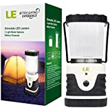 LE® Outdoor LED Lantern, 300lm, 3 Modes, Battery Powered, Lasting Up To 6 Days Straight, Water Resistant, Shockproof, Skidproof, Home/Garden/Camping Lanterns for Hiking/Emergencies/Hurricanes/Outages