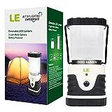 LED Camping Laterne - Notfalllaterne dimmbar mit 3 Helligkeitsstufen und Akkuzustandsanzeige