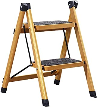 Escalera De Dos Peldaños,Escalera De 2 Peldaños, Escalera De Acero con Pedales Anchos, Mini Taburete Liviano En La Cocina De La Casa Baño RV, 220 LB (100 Kg) ++ (Design : 2-Step): Amazon.es: Electrónica