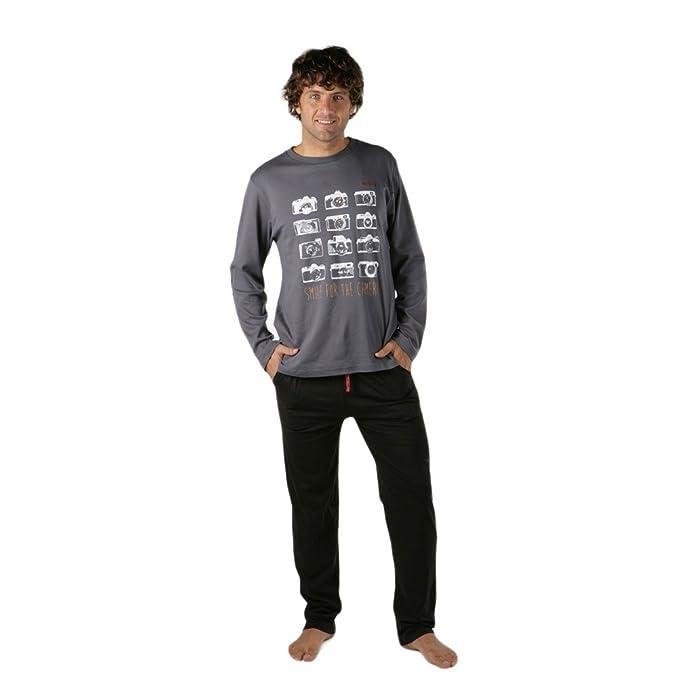 PETRUS - Pijama Hombre Hombre Color: Gris Talla: S