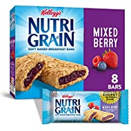 Kellogg's Nutri-Grain Soft Baked Mixed Berry Breakfast Bars - School Lunchbox Snacks, Individual Wrapped Bars, 8 Count (Pack of 6)
