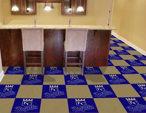 MLB - Kansas City Royals Carpet - Tiles Kansas City Carpet