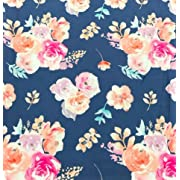 Changing Pad Cover in Vintage Navy Floral - By Bird + Twig - Handmade in the USA