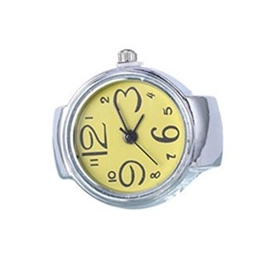 jingyuu Anillo Reloj, elástico, analógico y con Movimiento de Cuarzo: Amazon.es: Relojes