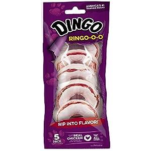 Dingo Ringo-O-O Rawhide Treats for All Dogs, Chicken
