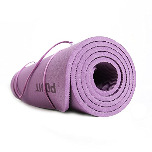 Yoga Mat - Premium Quality - Non Slip Exercise Mat - 8mm Thick, 72 x 24 Inches - Perfect for Yoga, Pilates, Sit-Ups, Stretches and Floor Exercises