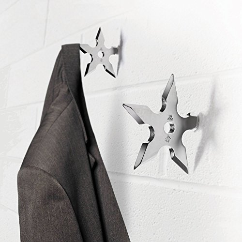 Aprince Set of 2 Stainless Steel New Star Door Coat Hook Clothes Hanger Holder (Star Hook - Set of 2)