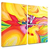 ArtWall Susi Franco 'Secret Life of Lily' Flag 3-Piece Gallery Wrapped Canvas Artwork, 24 by 36-Inch