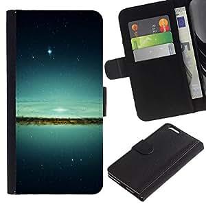 NEECELL GIFT forCITY // Billetera de cuero Caso Cubierta de protección Carcasa / Leather Wallet Case for Apple Iphone 6 PLUS 5.5 // Espacio Galaxy