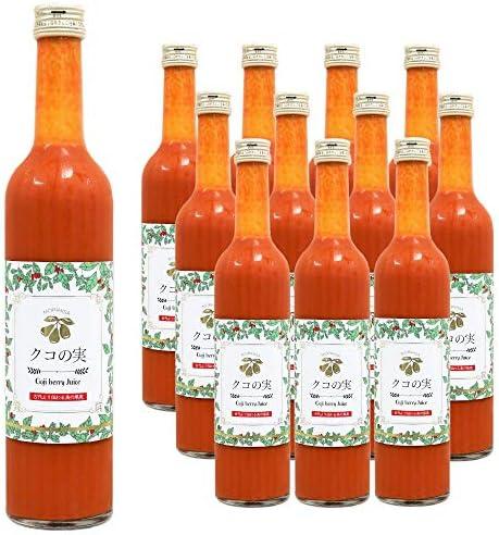 [スポンサー プロダクト]数量限定 ゴジベリージュース 無農薬 栄養吸収率が良い果汁100%ジュース 500ml 12本セット 全国送料無料