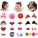 Aohandle 20pcs Sweet Lovely Hair Bows Clips Cat...