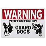 14 in. x 10 in. Guard Dog Sign 90 Day Warranty 90 Day Warranty