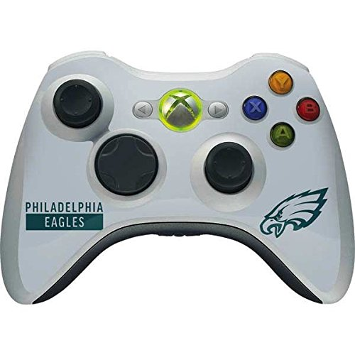 Skinit NFL Philadelphia Eagles Xbox 360 Wireless Controller Skin - Philadelphia Eagles Silver Performance Series Design - Ultra Thin, Lightweight Vinyl Decal Protection