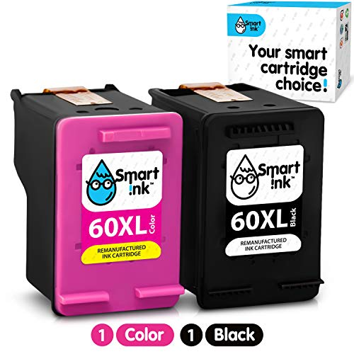 Smart Ink Re-Manufactured Ink Cartridge Replacement for HP 60XL 60 XL (BK & Color 2 Combo Pack) to use with Deskjet D2530 D2545 F2430 F4440 Envy 100 110 120 Photosmart C4640 C4650 C4680 C4780 C4795 (Hp 60 Printer Ink Envy)